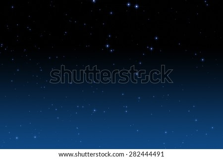 Colorful star field in dawn. - stock photo