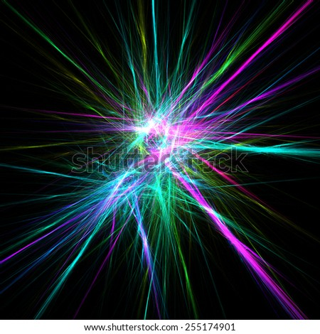 Colorful star light effects. Abstract colorful illustration background
