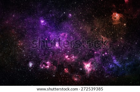 Colorful Starfield - Elements of this Image Furnished by NASA - stock photo