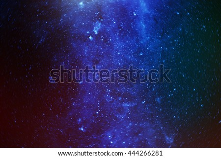 colorful stars in the galaxy. Some elements of this image furnished by NASA - stock photo