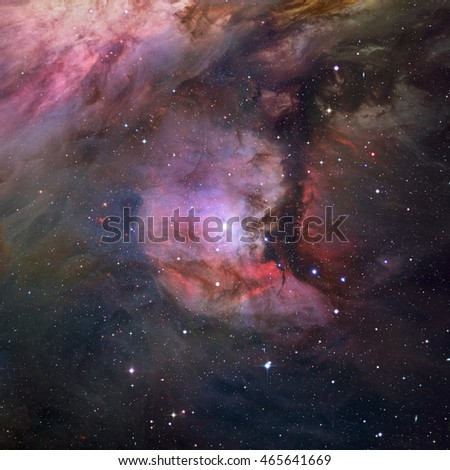 Colorful stars nebula in outer space. Elements of this image furnished by NASA.