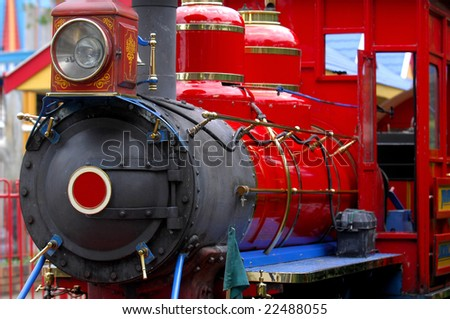 Colorful steam engine