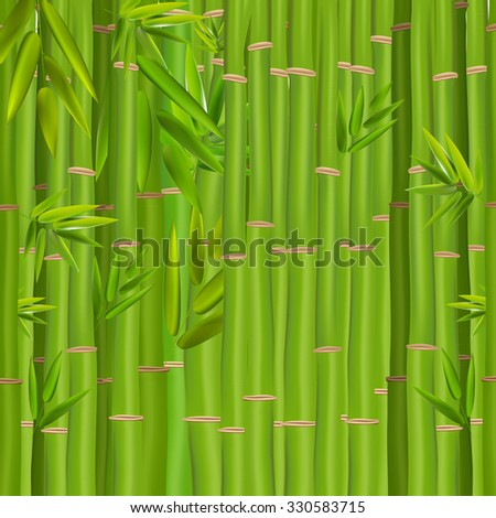 Colorful Stems and Bamboo Leaves Background. Illustration.