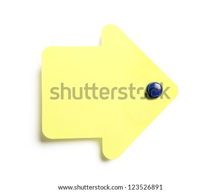 Colorful sticky note isolated on white background