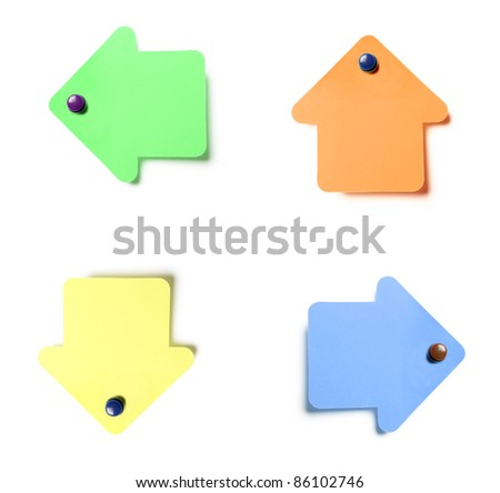 Colorful sticky notes isolated on white background - stock photo
