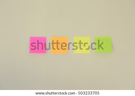 Colorful sticky notes on the wall