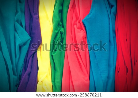 Colorful stockings background. Vignette effect