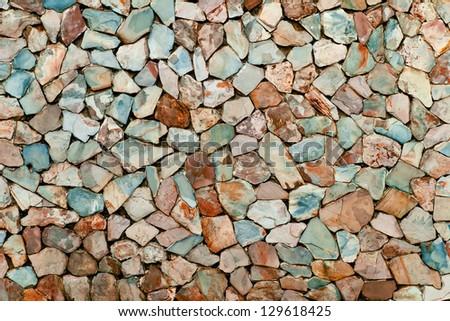 Colorful stone background - stock photo