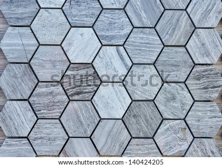 Colorful stone tiles pattern - closeup background texture