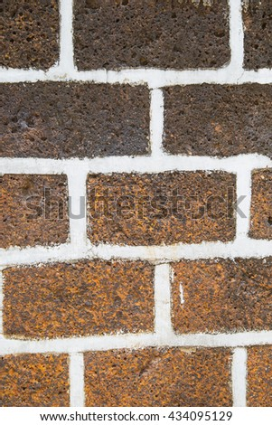 Colorful Stone Wall with Grey Mortar for background or texture