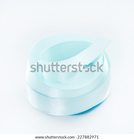 colorful streamers ribbon tape on white background