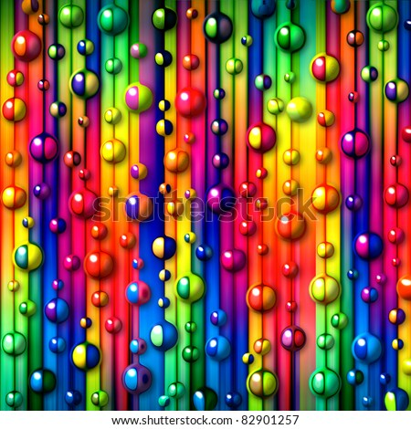 colorful stripes and bubbles - stock photo