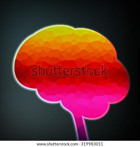 Colorful structure in the form of brain, futuristic illustration  - stock photo