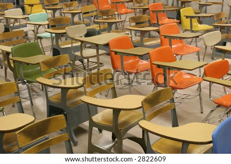 Colorful Student Desks