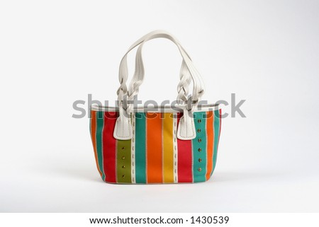 colorful summer purse - stock photo