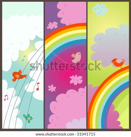 Colorful summer sky tags
