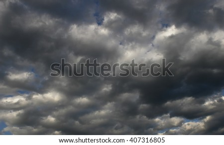 Colorful sunny clouds background, Dramatic sky before storm
