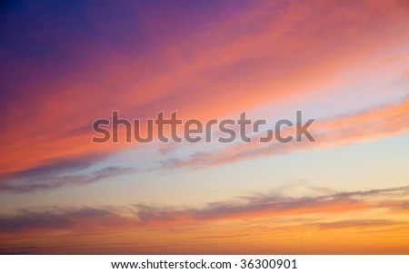colorful sunset - stock photo