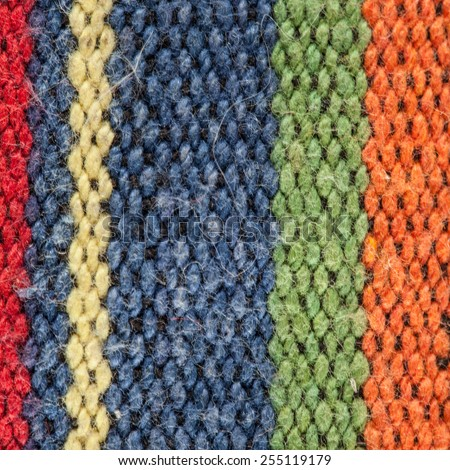 Colorful sweater texture - stock photo