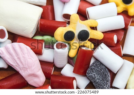 Colorful sweet  - stock photo