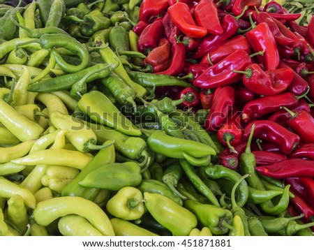 Colorful sweet bell peppers - stock photo