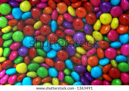 colorful sweets,jelly beans - stock photo