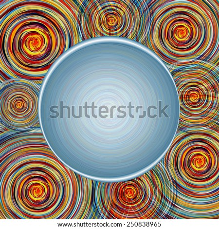 Colorful swirl text background square - stock photo