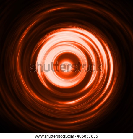 Colorful swirling orange yellow light backdrop, spiral abstract background design, twist style. Abstract pink light ripple in water with concentric circles.  - stock photo
