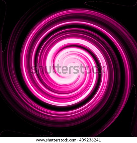 Colorful swirling purple light backdrop, spiral abstract background design, twist style. - stock photo