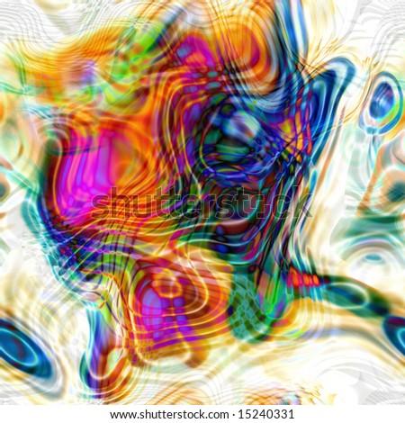 Colorful Swirls Seamless Tile - stock photo