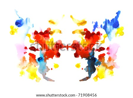 colorful symmetric painting - stock photo
