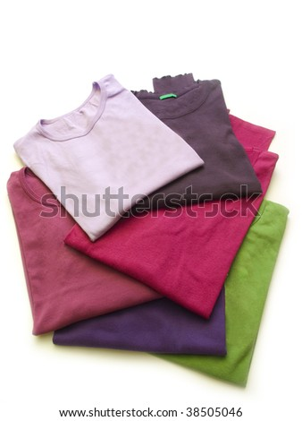 Colorful T-shirts - stock photo