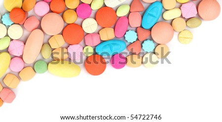 Colorful tablets - stock photo