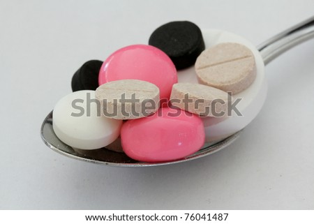 Colorful tablets ,shallow dof