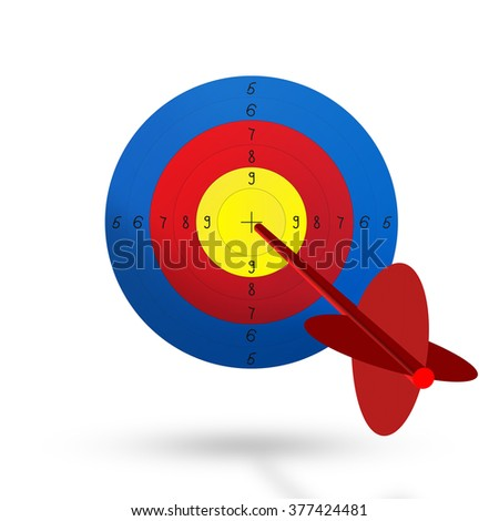 Colorful target isolated