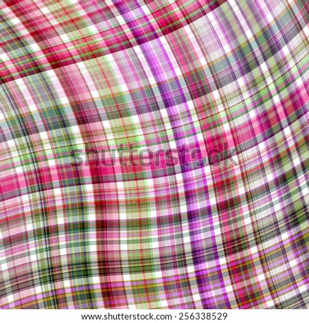 colorful tartan fabric plaid background - stock photo