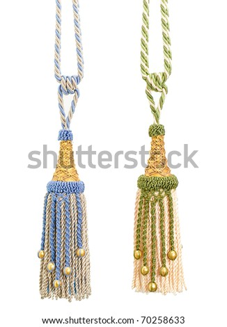 colorful tassels for your home design and decoration the image isolated on white