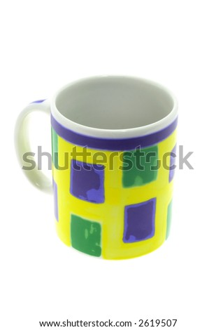 Colorful tea,coffee mug - stock photo