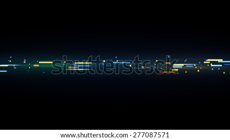 colorful techno stripe. Computer generated abstract illustration - stock photo