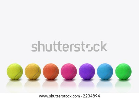 colorful tennisballs
