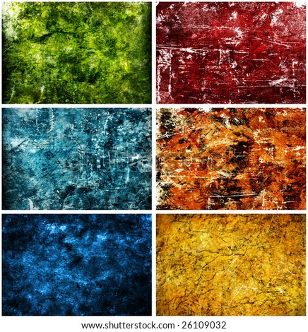 Colorful Texture Background Set - stock photo