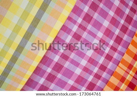 Colorful Thai style loincloth surface texture background - stock photo