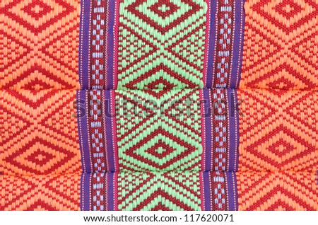 Colorful Thai style native textile