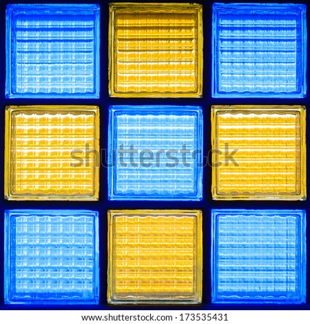 Colorful Thai style stained glass window - stock photo