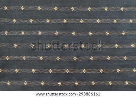 Colorful Thailand style rug surface close up vintage fabric is made of hand-woven cotton fabric - stock photo