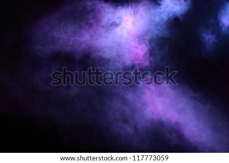Colorful theater concert lighting - stock photo