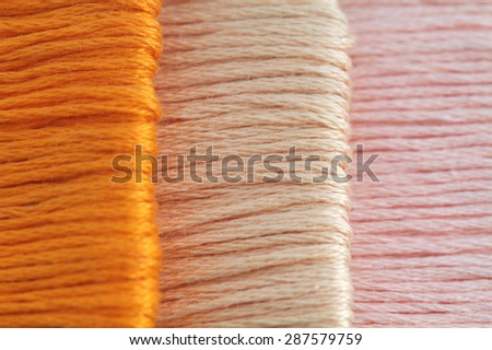 colorful thread  - stock photo