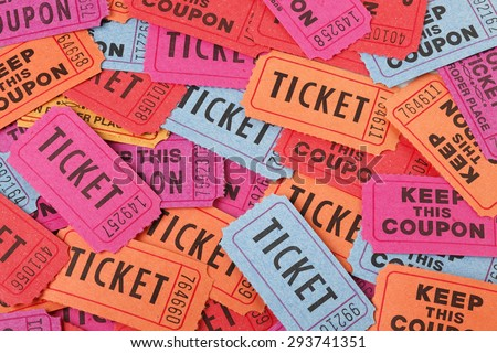 Colorful ticket background - stock photo