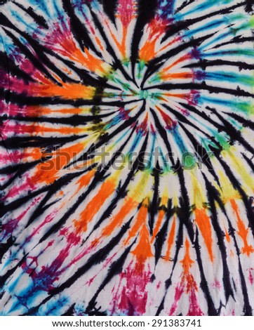 Colorful Tie Dye Swirl Pattern Design - stock photo
