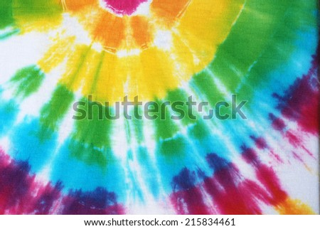 colorful tie dyed fabric background